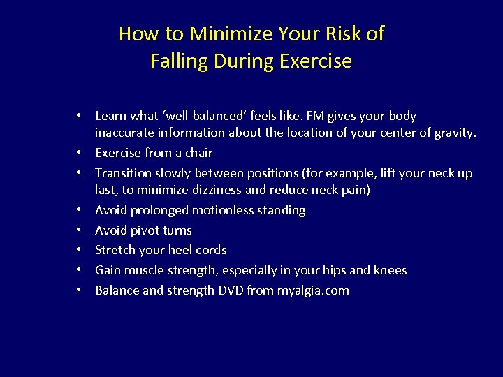 How to Minimize Your Risk of Falling During Exercise • Learn what 'well balanced'