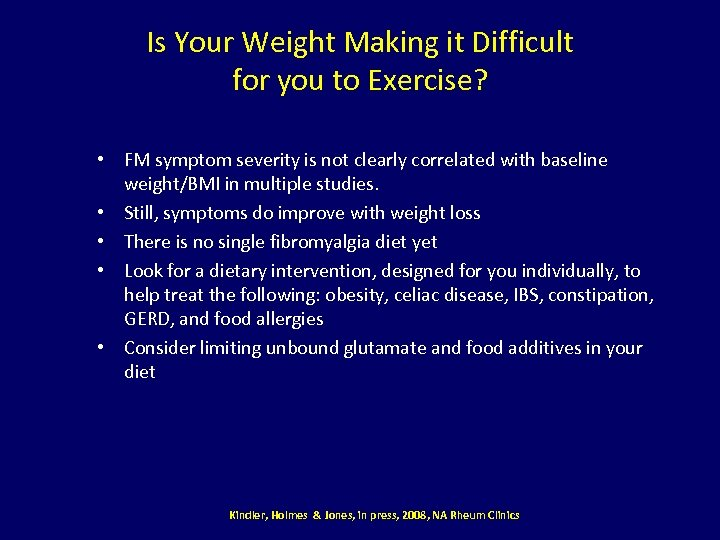 Is Your Weight Making it Difficult for you to Exercise? • FM symptom severity