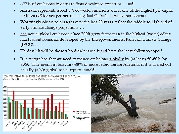 • • • ~77% of emissions to date are from developed countries…. .