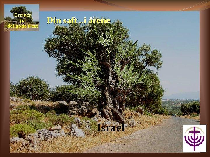 Greiner på det gode treet Din saft. . i årene Israel
