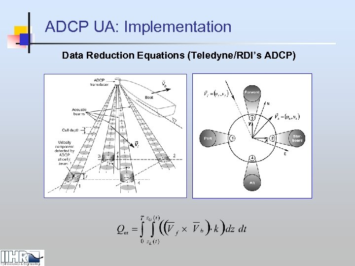 ADCP UA: Implementation Data Reduction Equations (Teledyne/RDI's ADCP)