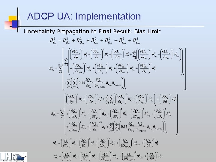 ADCP UA: Implementation Uncertainty Propagation to Final Result: Bias Limit