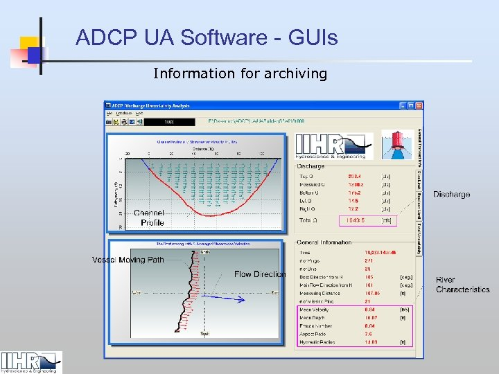 ADCP UA Software - GUIs Information for archiving