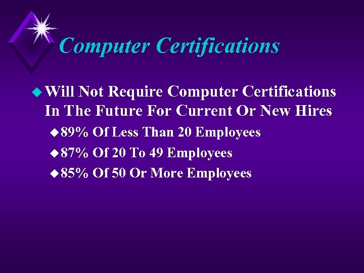 Computer Certifications u Will Not Require Computer Certifications In The Future For Current Or