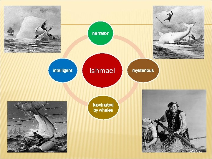 narrator intelligent Ishmael fascinated by whales mysterious