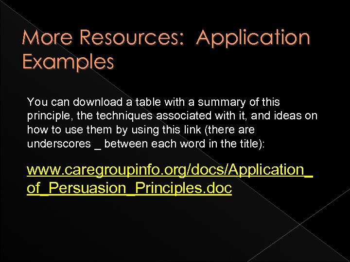 More Resources: Application Examples You can download a table with a summary of this