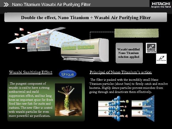 Nano Titanium Wasabi Air Purifying Filter Double the effect, Nano Titanium + Wasabi Air