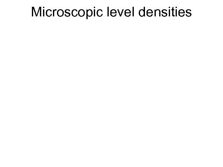 Microscopic level densities