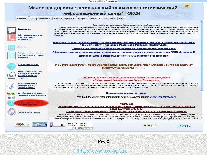 Рис. 2 http: //www. toxi-spb. ru
