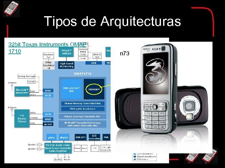 Tipos de Arquitecturas 32 bit Texas Instruments OMAP 1710 n 73 ARM 926