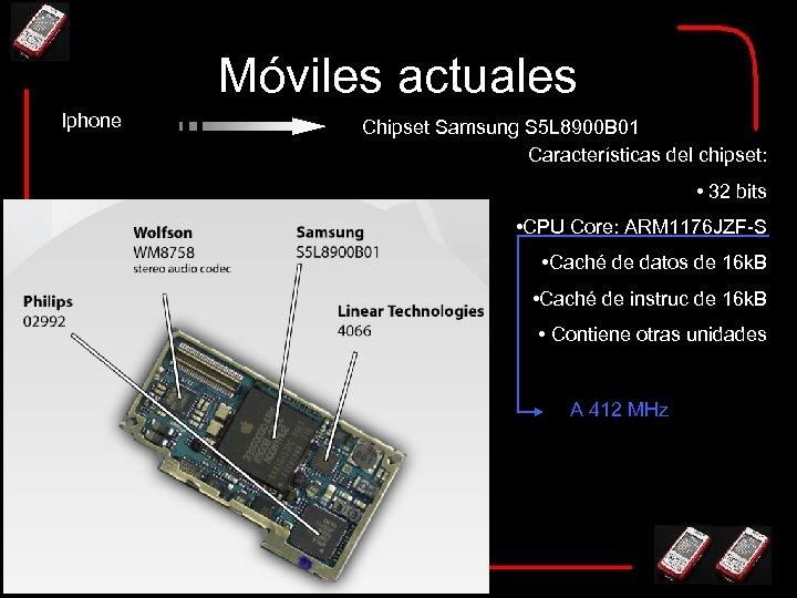 Móviles actuales Iphone Chipset Samsung S 5 L 8900 B 01 Características del chipset: