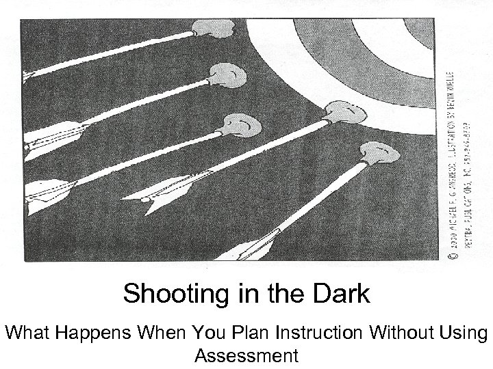 Shooting in the Dark What Happens When You Plan Instruction Without Using Assessment