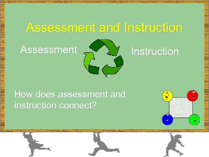 Assessment and Instruction Assessment How does assessment and instruction connect? Instruction