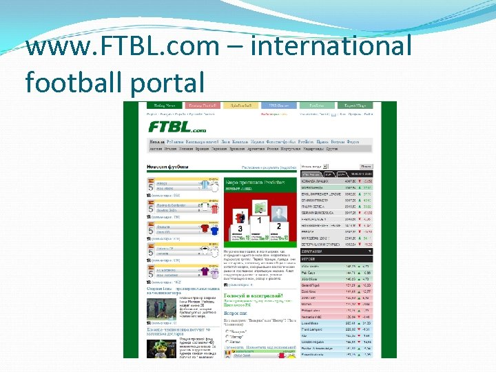 www. FTBL. com – international football portal