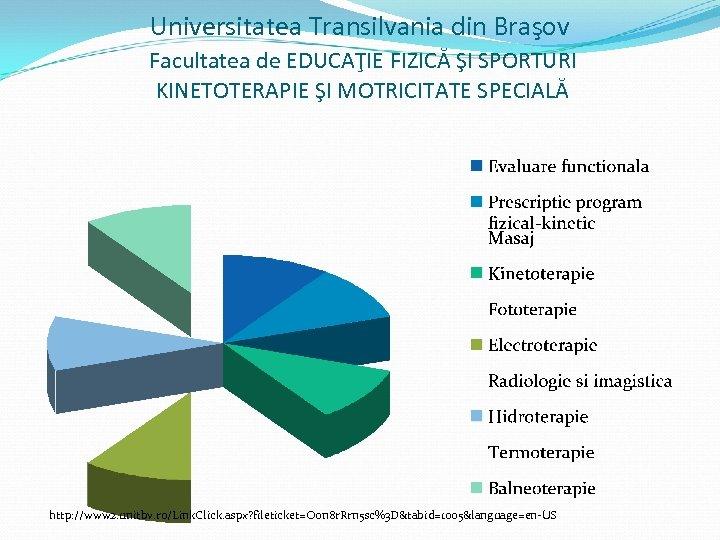 Universitatea Transilvania din Braşov Facultatea de EDUCAŢIE FIZICĂ ŞI SPORTURI KINETOTERAPIE ŞI MOTRICITATE SPECIALĂ