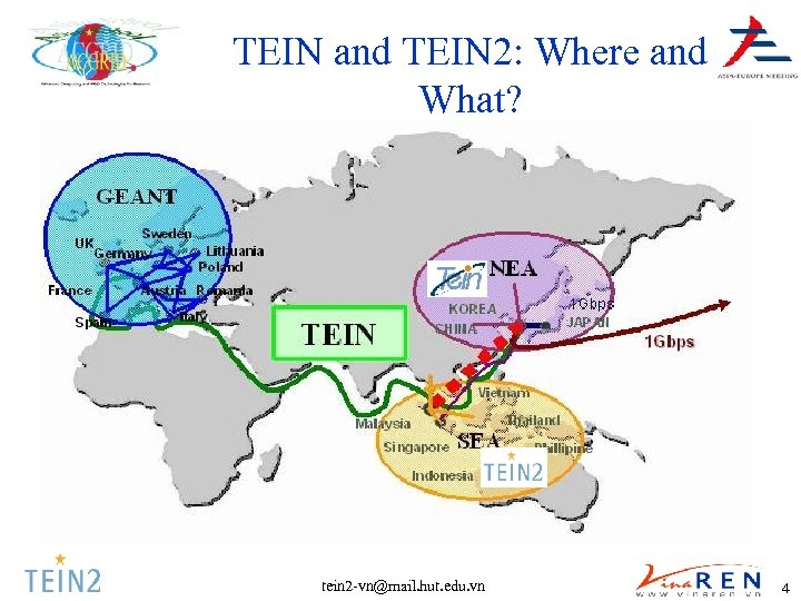 TEIN and TEIN 2: Where and What? tein 2 -vn@mail. hut. edu. vn 4
