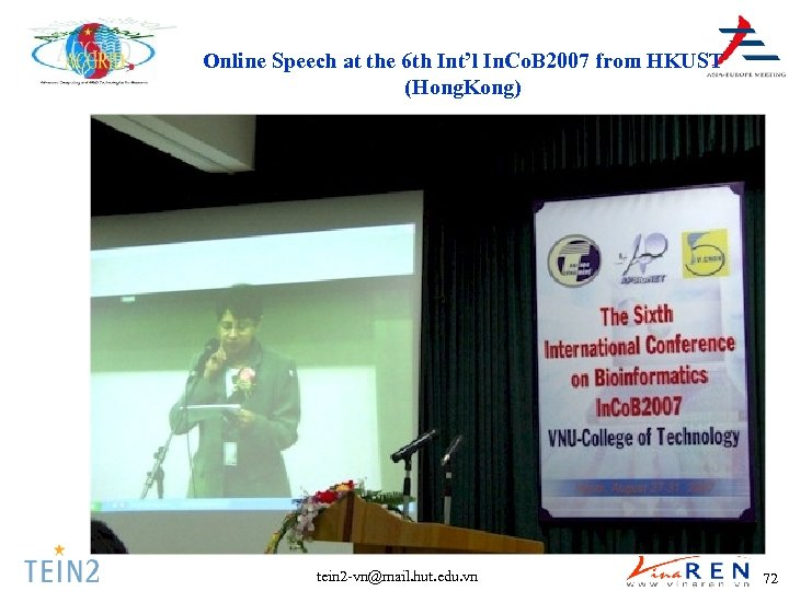 Online Speech at the 6 th Int'l In. Co. B 2007 from HKUST (Hong.