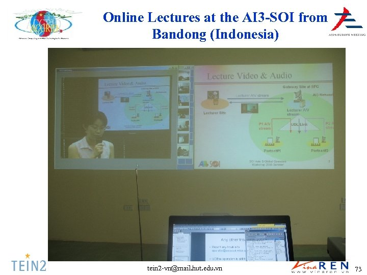 Online Lectures at the AI 3 -SOI from Bandong (Indonesia) tein 2 -vn@mail. hut.