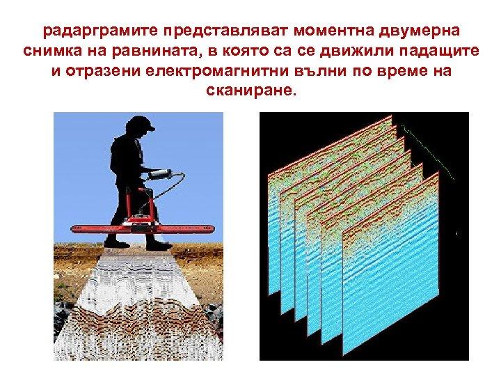 радарграмите представляват моментна двумерна снимка на равнината, в която са се движили падащите и