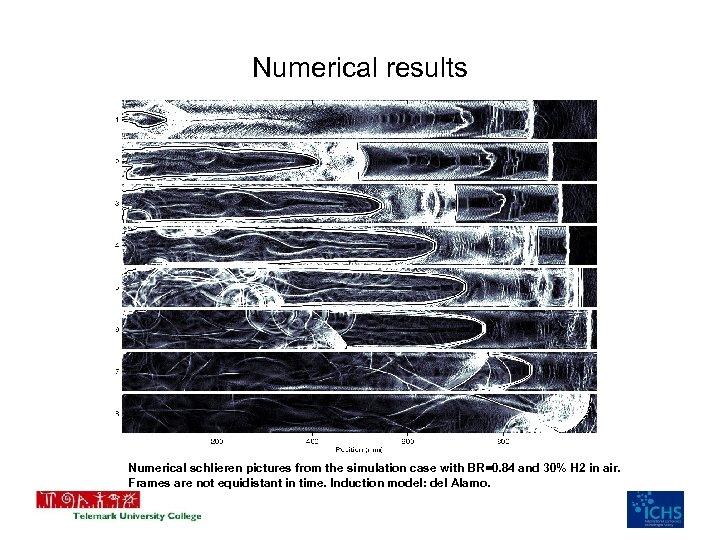 Numerical results Numerical schlieren pictures from the simulation case with BR=0. 84 and 30%