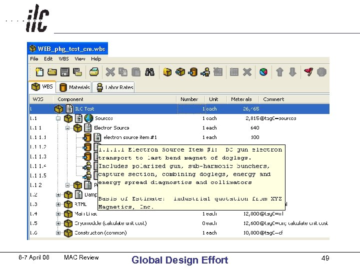 6 -7 April 06 MAC Review Global Design Effort 49