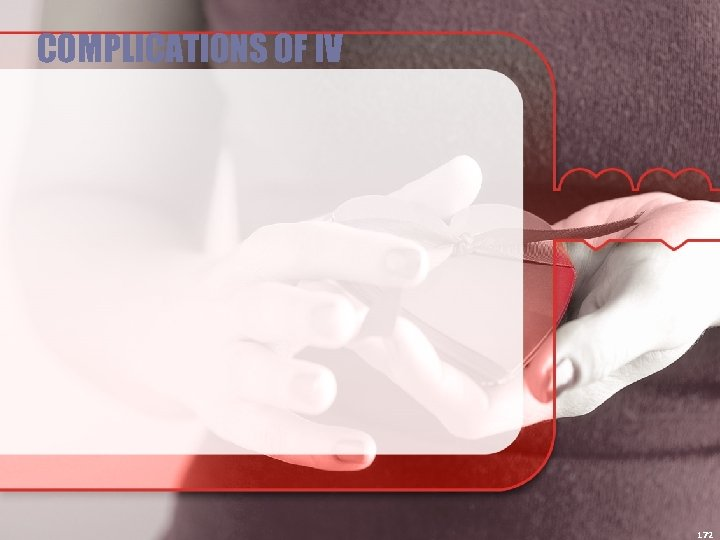 COMPLICATIONS OF IV 172