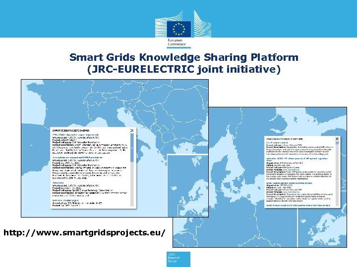 Smart Grids Knowledge Sharing Platform (JRC-EURELECTRIC joint initiative) http: //www. smartgridsprojects. eu/