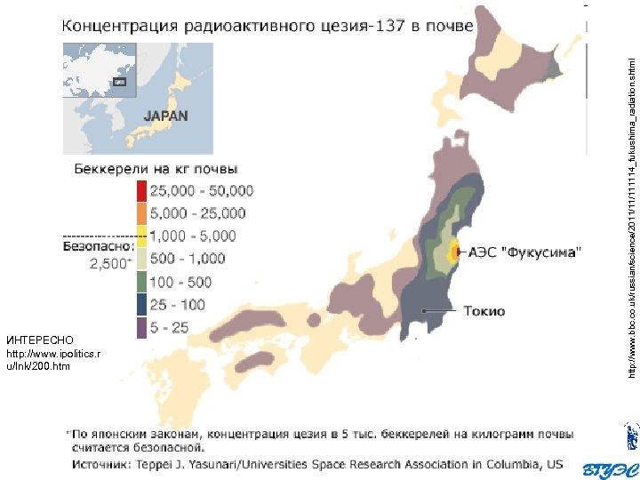 http: //www. bbc. co. uk/russian/science/2011/11/111114_fukushima_radiation. shtml ИНТЕРЕСНО http: //www. ipolitics. r u/lnk/200. htm