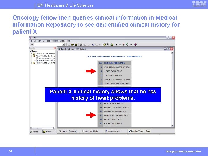 IBM Healthcare & Life Sciences Oncology fellow then queries clinical information in Medical Information