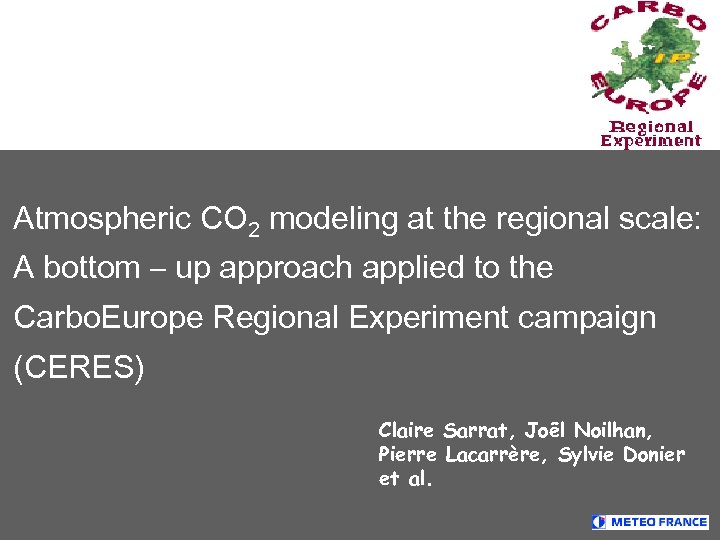 Atmospheric CO 2 modeling at the regional scale: A bottom – up approach applied