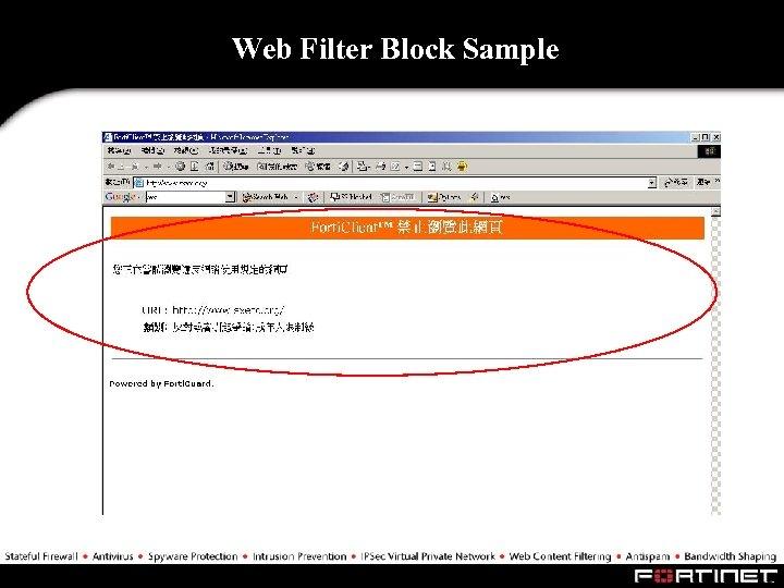 Web Filter Block Sample