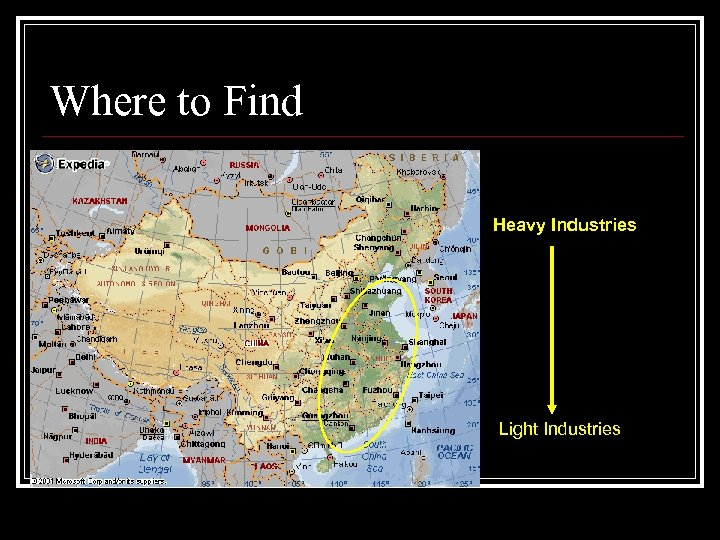 Where to Find Heavy Industries Light Industries