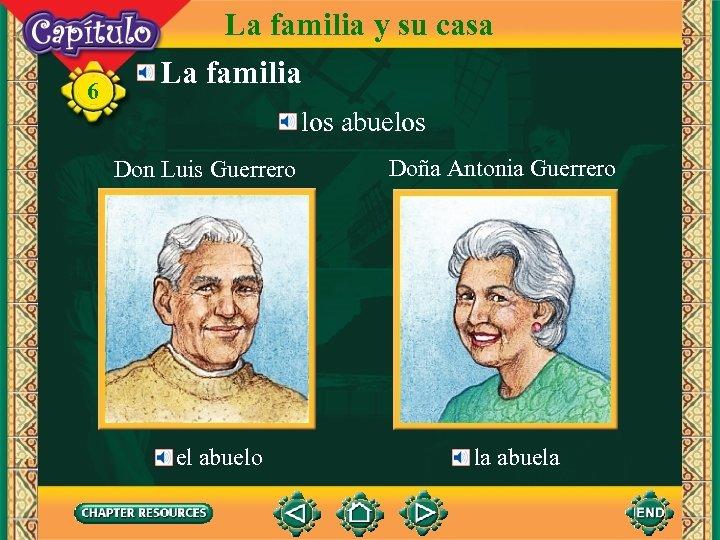 6 La familia y su casa La familia los abuelos Don Luis Guerrero el