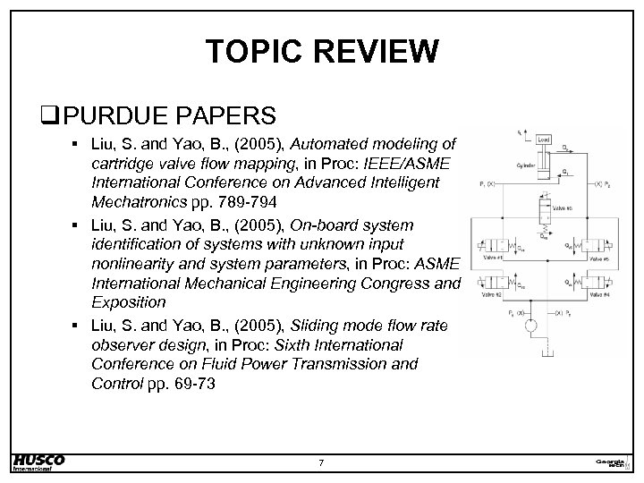TOPIC REVIEW q PURDUE PAPERS § Liu, S. and Yao, B. , (2005), Automated