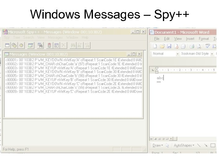Windows Messages – Spy++