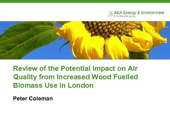Review of the Potential Impact on Air Quality from Increased Wood Fuelled Biomass Use