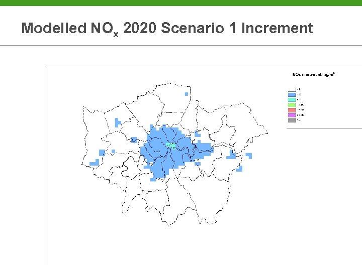 Modelled NOx 2020 Scenario 1 Increment
