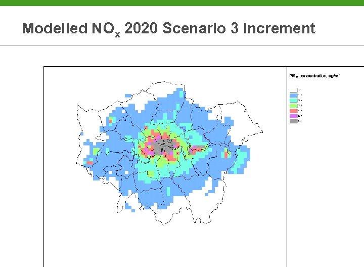 Modelled NOx 2020 Scenario 3 Increment