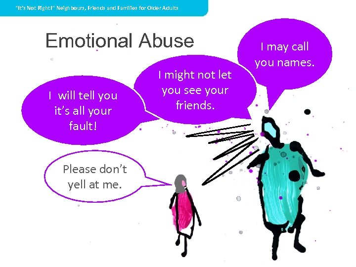 """""""It's Not Right!"""" Neighbours, Friends and Families for Older Adults Emotional Abuse I will"""