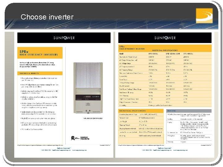 Choose inverter
