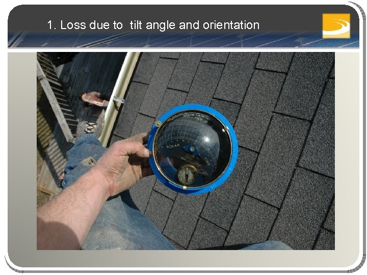 1. Loss due to tilt angle and orientation