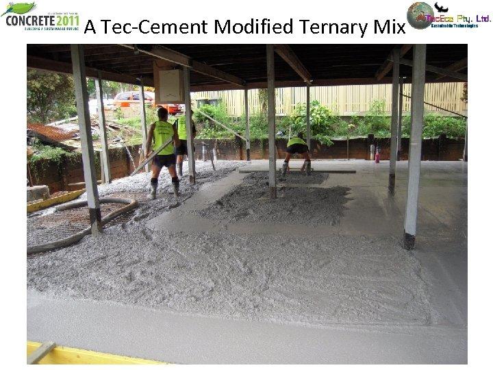 A Tec-Cement Modified Ternary Mix