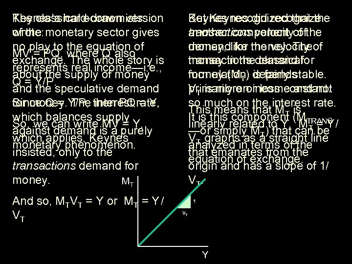 The classical economists Keynes's hard-drawn version wrote: of the monetary sector gives no play