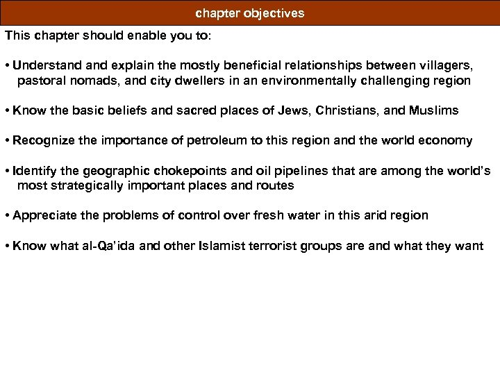 chapter objectives This chapter should enable you to: • Understand explain the mostly beneficial