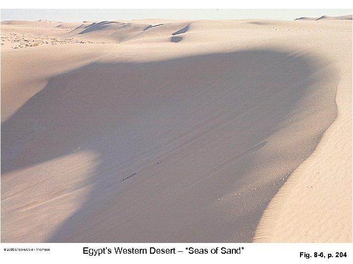 """Egypt's Western Desert – """"Seas of Sand"""" Fig. 8 -6, p. 204"""