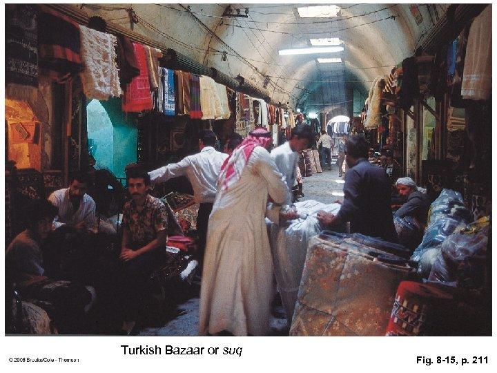 Turkish Bazaar or suq Fig. 8 -15, p. 211