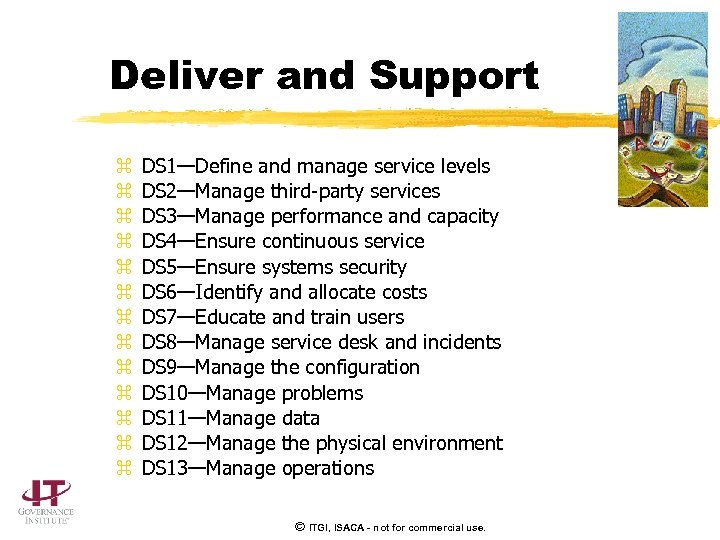 Deliver and Support z z z z DS 1—Define and manage service levels DS