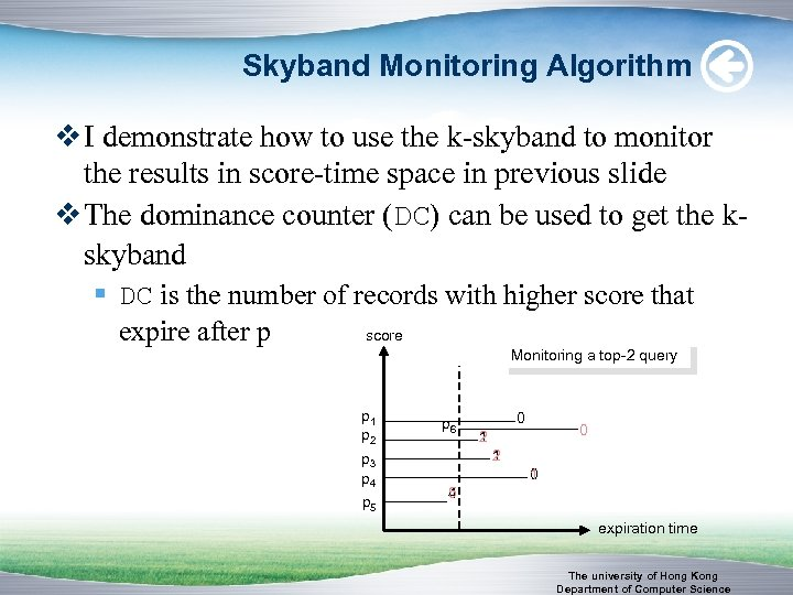 Skyband Monitoring Algorithm v I demonstrate how to use the k-skyband to monitor the