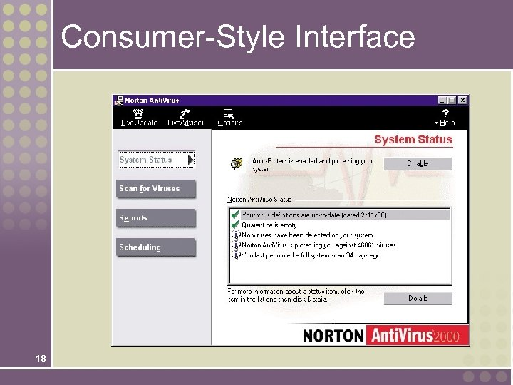 Consumer-Style Interface 18