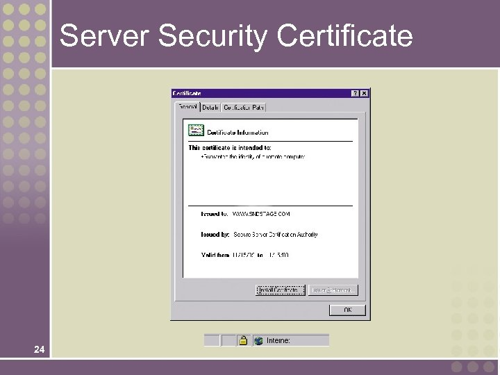 Server Security Certificate 24